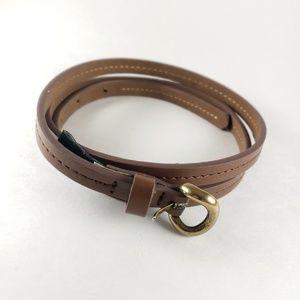 J Crew Skinny Leather Belt